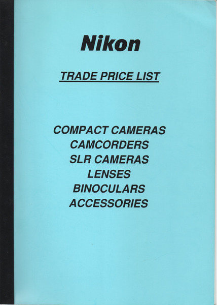 Trade price list 1st oct 1991