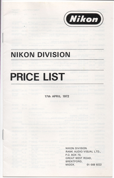 Price list 1972 %28rank%29